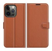 ShieldCase® iPhone 13 Pro wallet bookcase (bruin)