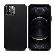 ShieldCase iPhone 13 Pro Max leren hoesje (zwart)
