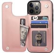 ShieldCase® iPhone 13 Pro wallet case (roze)