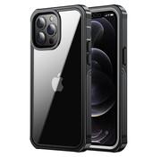 ShieldCase® Drielaags hoesje iPhone 13 Pro Max (transparant-zwart)