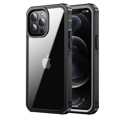 ShieldCase® ShieldCase Drielaags hoesje iPhone 13 Pro Max (transparant-zwart)