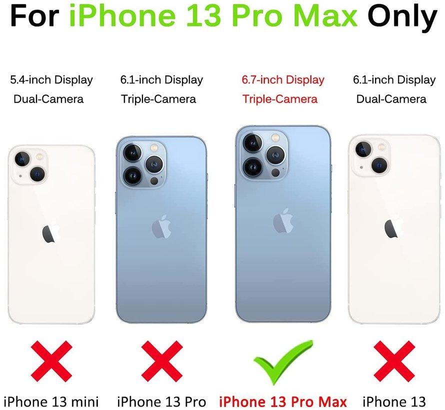 ShieldCase Drielaags hoesje iPhone 13 Pro Max (transparant-zwart)