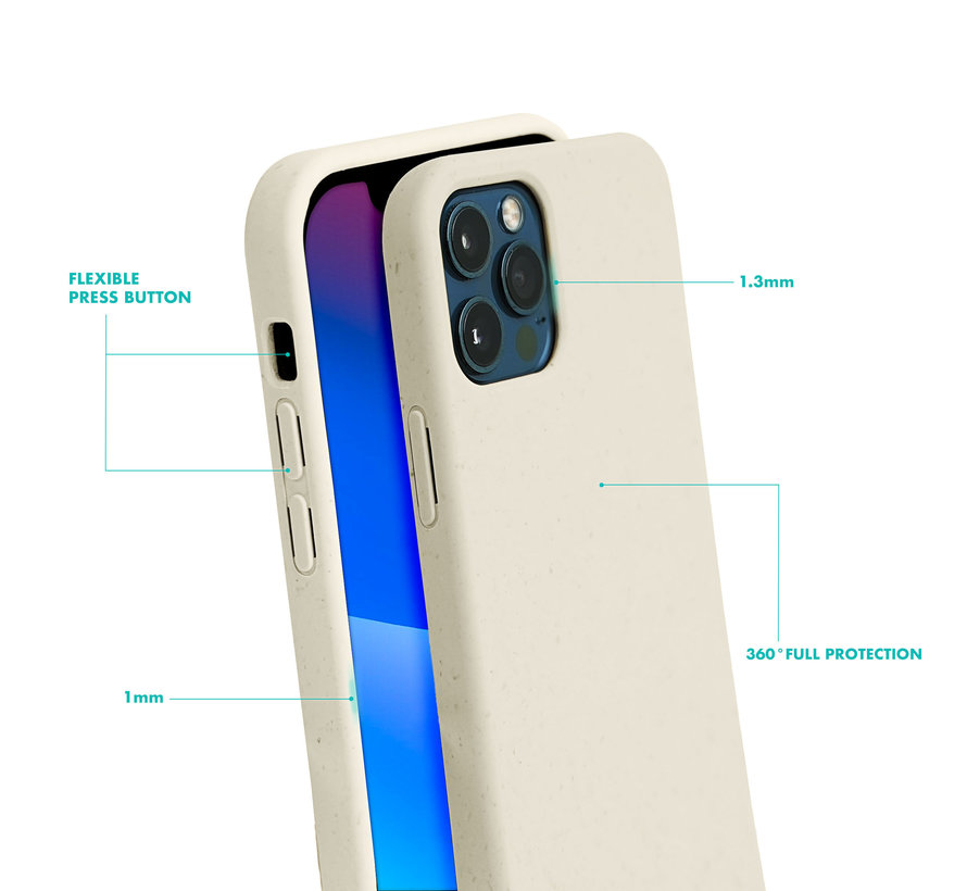 Coverzs Bio silicone case met koord iPhone Xr (wit)