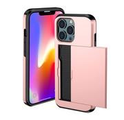 ShieldCase® Kaarthouder case met slide iPhone 13 Pro Max (roze)