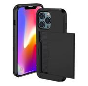 ShieldCase® Kaarthouder case met slide iPhone 13 Pro Max (zwart)