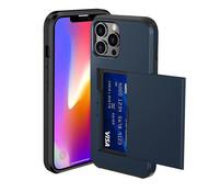 ShieldCase® Kaarthouder case met slide iPhone 13 Pro Max (blauw)