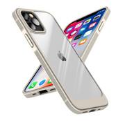 ShieldCase® iPhone 13 Pro hoesje TPU met rand (beige/transparant)
