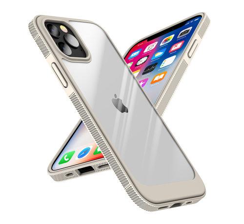 ShieldCase® ShieldCase iPhone 13 Pro Max hoesje TPU met rand (beige/transparant)