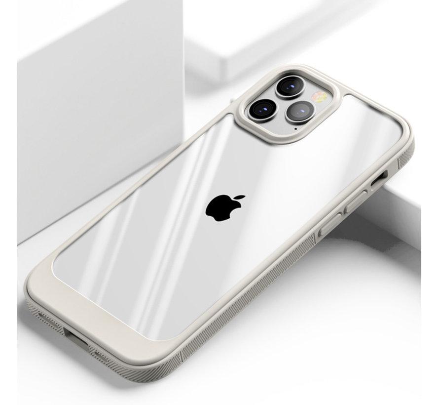 ShieldCase iPhone 13 Pro Max hoesje TPU met rand (beige/transparant)