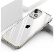 ShieldCase® iPhone 13 hoesje TPU met rand (beige/transparant)