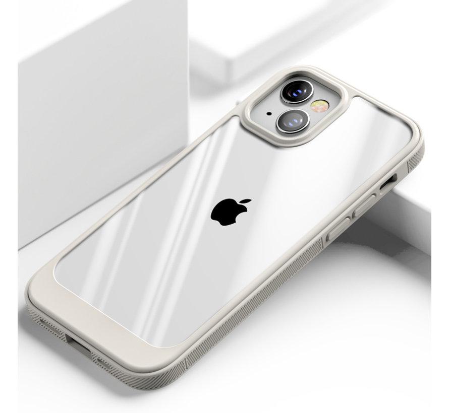 ShieldCase iPhone 13 hoesje TPU met rand (beige/transparant)