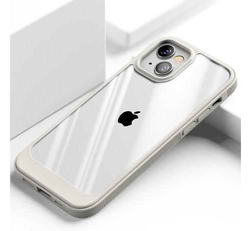 ShieldCase® ShieldCase iPhone 13 Mini hoesje TPU met rand (beige/transparant)