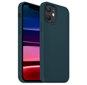 Coverzs Luxe Liquid Silicone case iPhone 12 Pro (donkerblauw)
