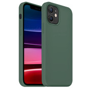 Coverzs Luxe Liquid Silicone case iPhone 12 (dennengroen)