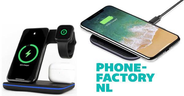 Draadloze opladers voor iPhone en Samsung als sinterklaas cadeautje