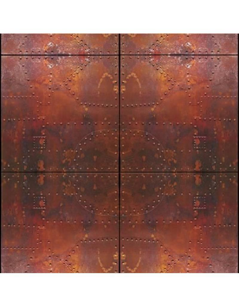 "Fondali Achtergronddoek ""Stalen deuren"" op aluminiumrol"