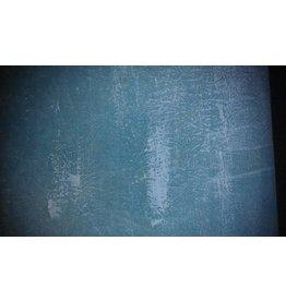 Comet Achtergronddoek 3 x 6 mtr. Handgeschilderd, groen/blauw/wit aangezet met kwast