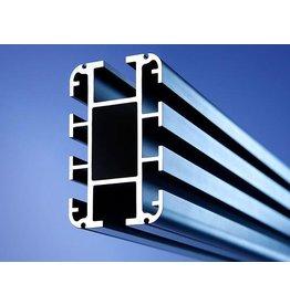 Bacht Expert plafond rail p/m.  Zwart Aluminium