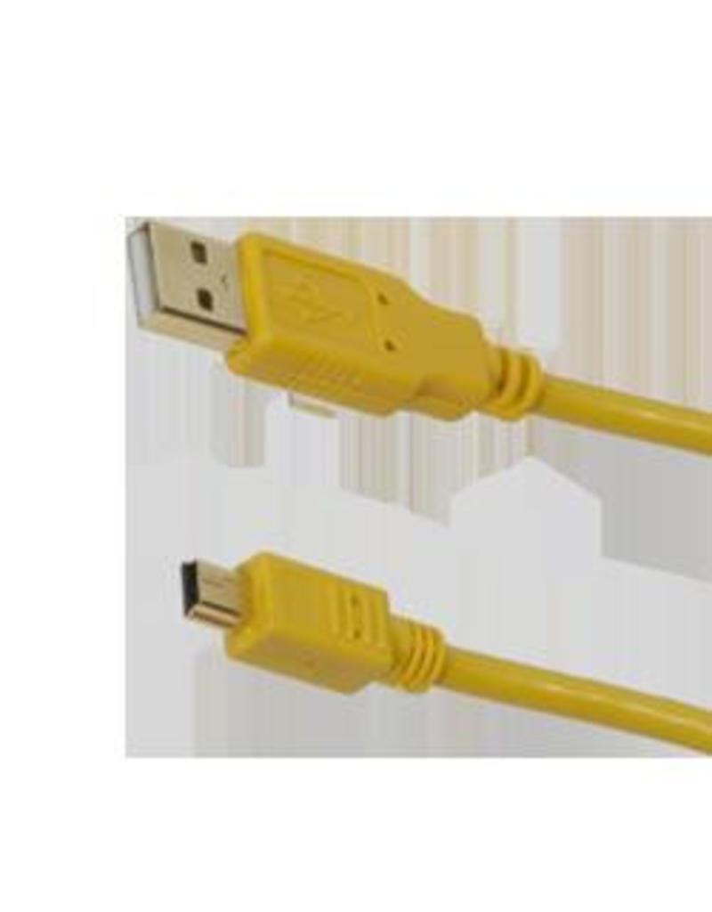 Cameleon Cameleon Tethering kabel USB 2.0 A Male to Mini-B 5m Geel