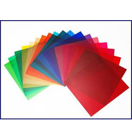 Elinchrom Elinchrom Assorted bright colour gels 21cm set of 20 pieces