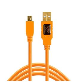 TetherTools TetherTools TetherPro USB 2.0 Mini-B 5-Pin Cable (15ft-4.6m) Orange