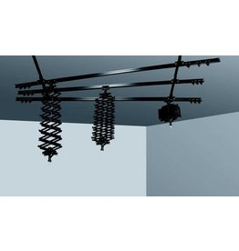 Cameleon Compact ceiling track system 3 x 3m + 3 Pantographs