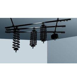 Cameleon Plafond Railsysteem 3 x 3 meter + 4 pantografen