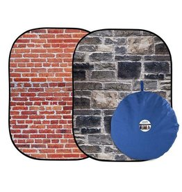 Lastolite Opvouwbare achtergrond urban Red Brick/ Black Stone