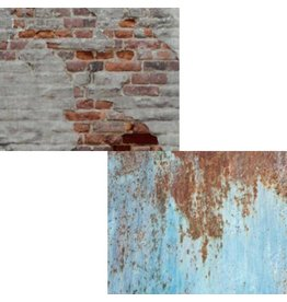 Lastolite Lastolite Urban collapsible background 150x210cm rusty metal/plaster wall