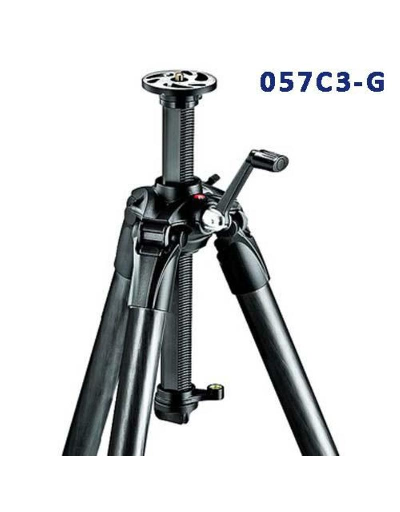 Manfrotto Carbon Fiber Tripod 3 Sections Geared MT057C3-G