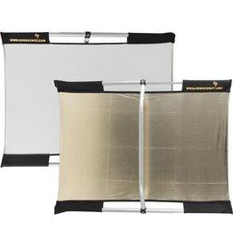 Sunbounce SunBounce Pro kit frame + scherm goud / wit 130 x 190 cm