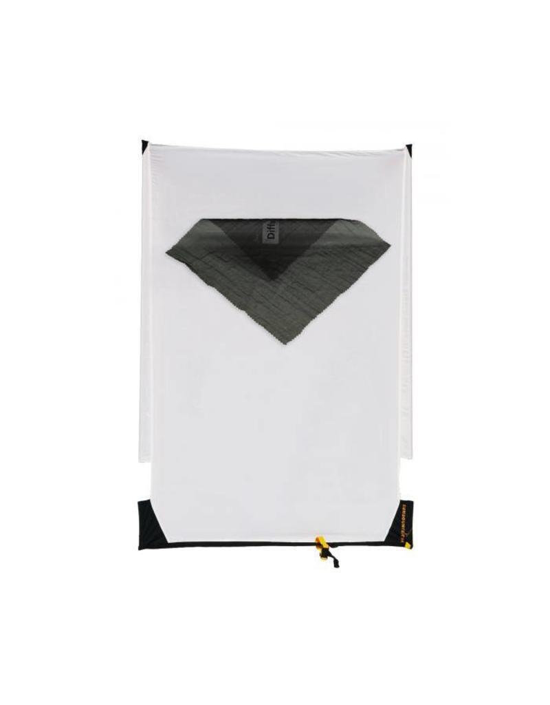 """Sunbounce SUN-SWATTER PRO Screen Translucent """"NO MOIRÉ"""" black 130 x 190cm"""