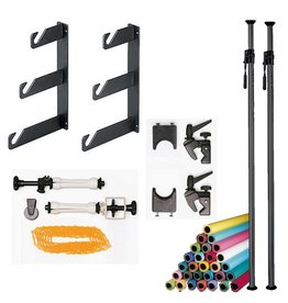 Cameleon Autopole background kit  3.7 m. + expans + hooks + paper