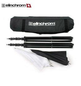 Elinchrom Quick lock Statiefset + 2 Paraplu's + Tas