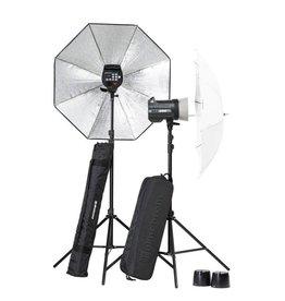 Elinchrom Elinchrom BRX 250 To Go Complete Studioset + Statieven + Paraplu's