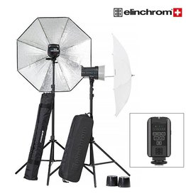 Elinchrom Elinchrom D-Lite RX 2 To Go Set met Paraplu's