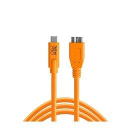 TetherTools TetherPro USB-C to 3.0Micro-B 15' (4.6m) High-Visibility Orange