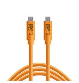 TetherTools TetherPro USB-C to USB-C 15' (4.6m) High-Visibility Orange