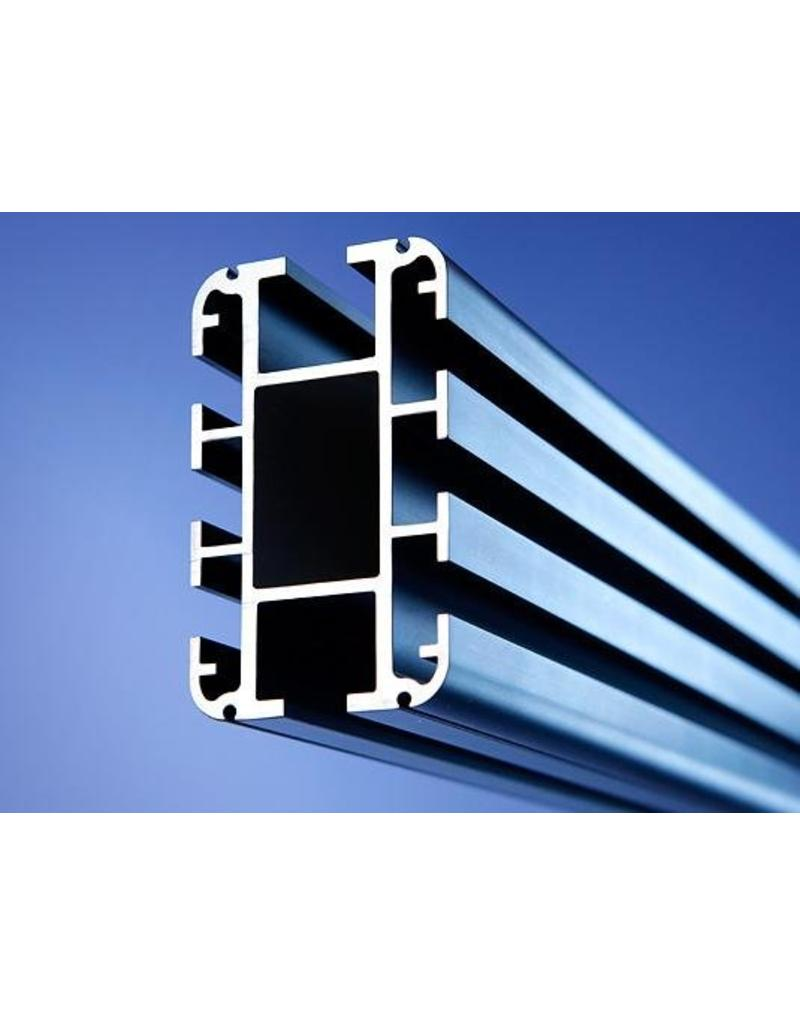 Bacht Bacht Expert plafond rail p/m. Blank Aluminium