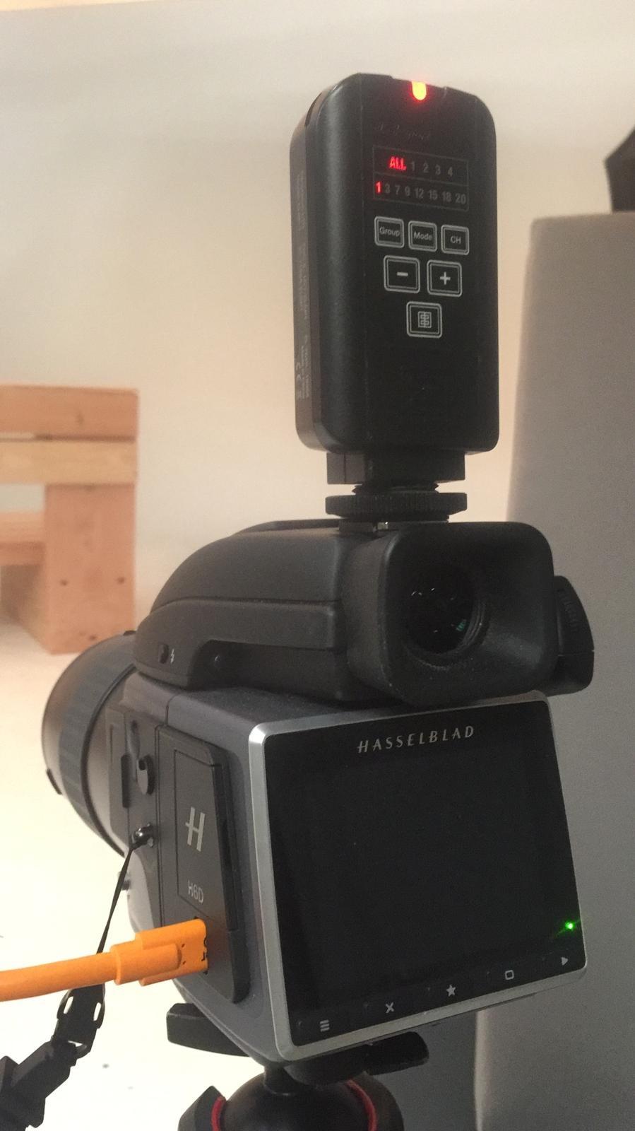 Middenformaat camera's en Elinchrom flitsers