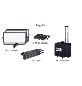 Swit PL-E90 LED Panel Light 3 KIT w/o DMX