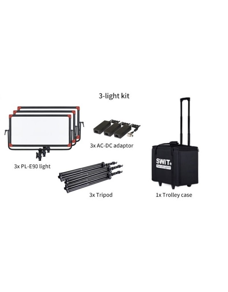 Swit Swit PL-E90 LED Panel Light 3 KIT w/o DMX
