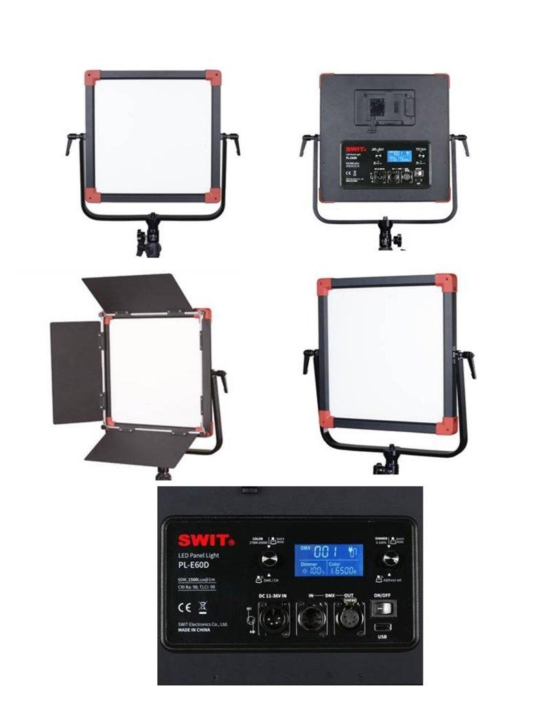 Swit Swit PL-E60D LED Panel Light 3 KIT + DMX