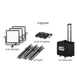 Swit Swit PL-E60D LED Panel Light 3 KIT + DMX