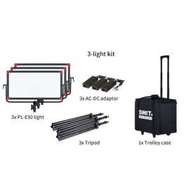 Swit PL-E90D LED Panel Light + DMX 3 KIT