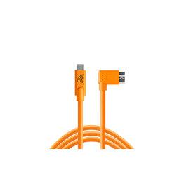 TetherTools TetherPro USB-C to 3.0 Micro-B Right Angle 15'(4.6m) High Visibility Orange