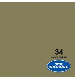 Savage Savage Achtergrondpapier op rol 1.38 x 11m Olive Green # 34