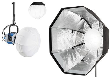 Softboxes for continuous light