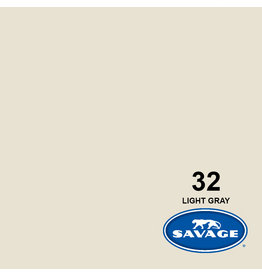 Savage Backgroud paper on roll 1.35 mtr x 11 m. Light Gray # 32