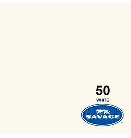 Savage Savave Backgroud paper on roll 1.35 mtr x 11 m. White # 50
